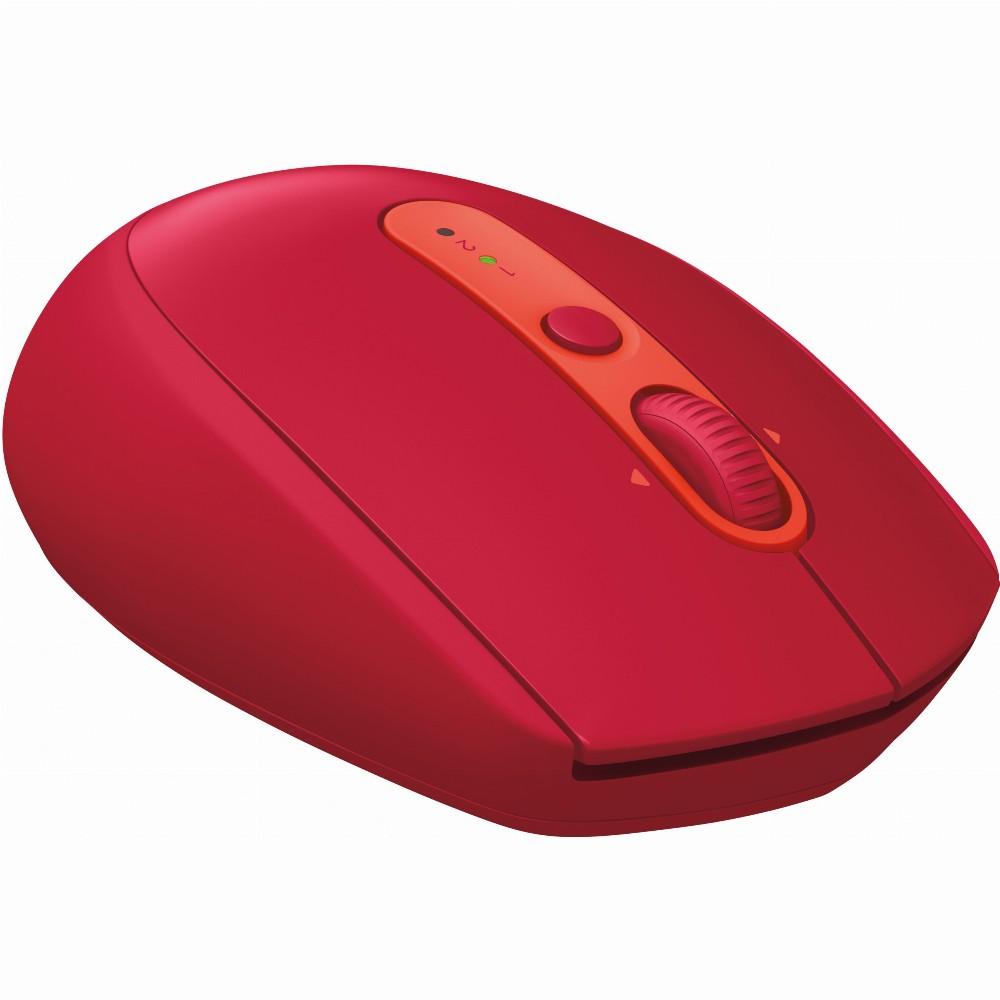 Logitech M590, rechts, Optisch, RF kabellos + Bluetooth, 1000 DPI, Rot