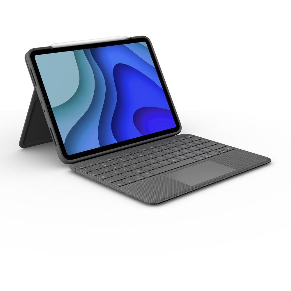Logitech Folio Touch, QWERTZ, Deutsch, Trackpad, 1,8 cm, 1 mm, Apple