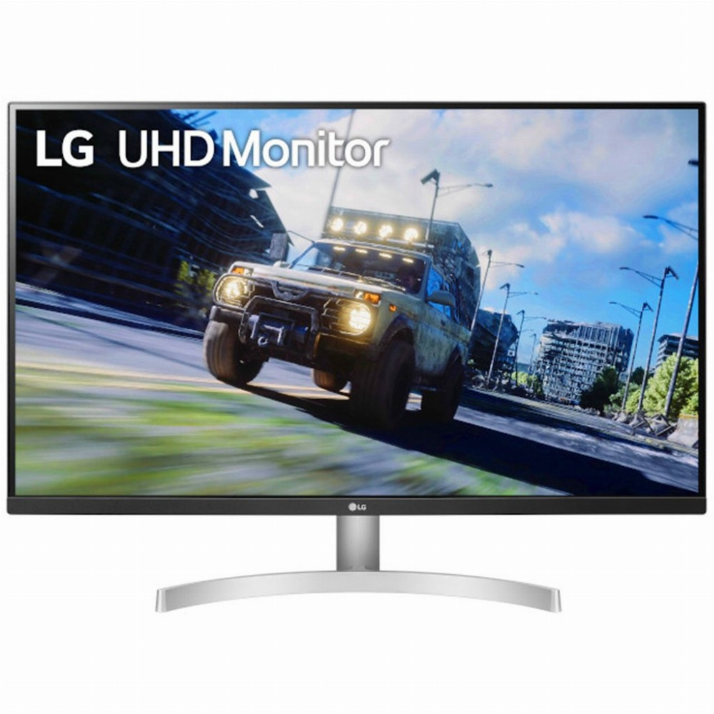 LG 32UN500-W, 80 cm (31.5 Zoll), 3840 x 2160 Pixel, 4K Ultra HD, 4 ms, Schwarz, Weiß