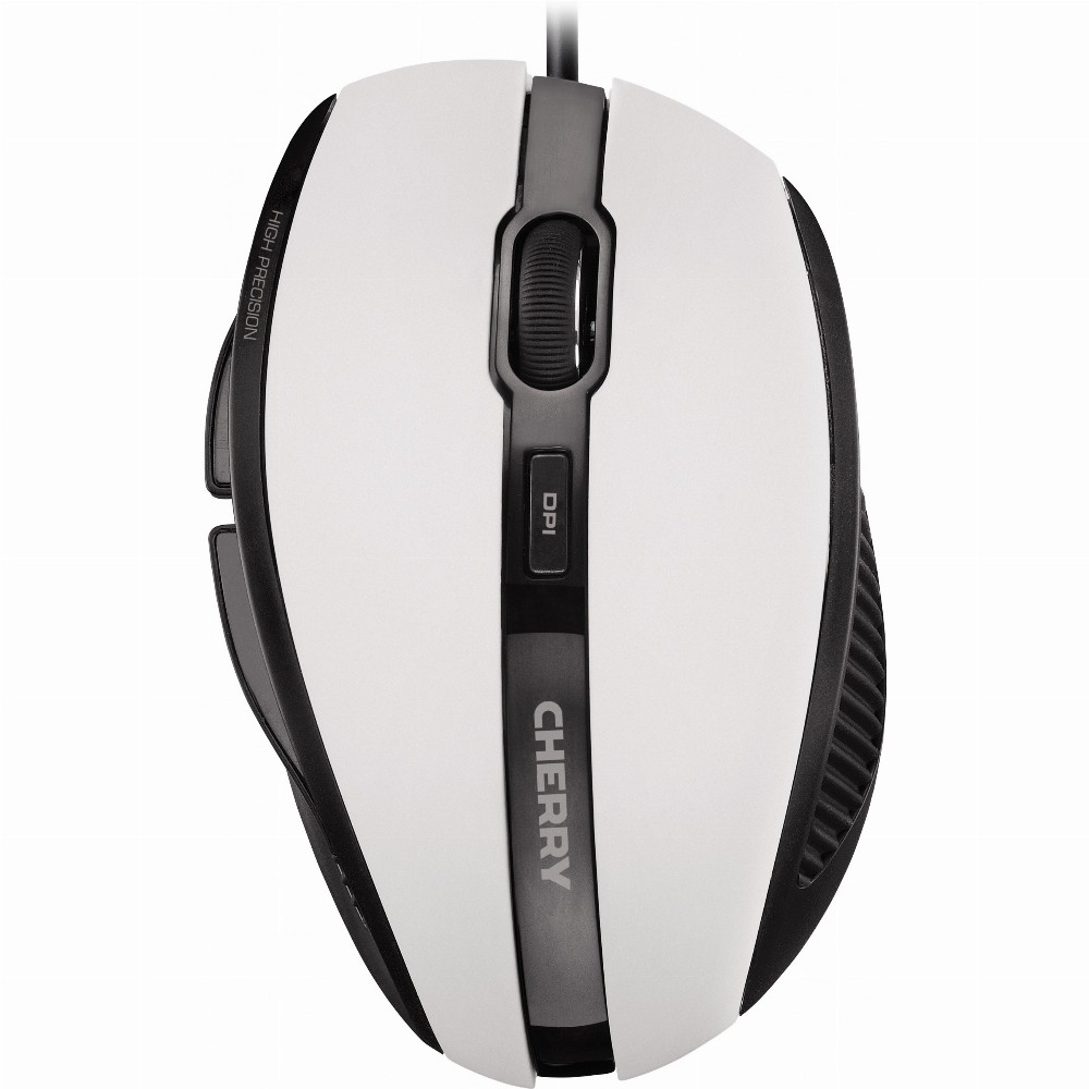 CHERRY MC 3000 Kabelgebunde Maus, Weiß Grau, USB, rechts, Optisch, USB Typ-A, 1000 DPI, Grau, Weiß
