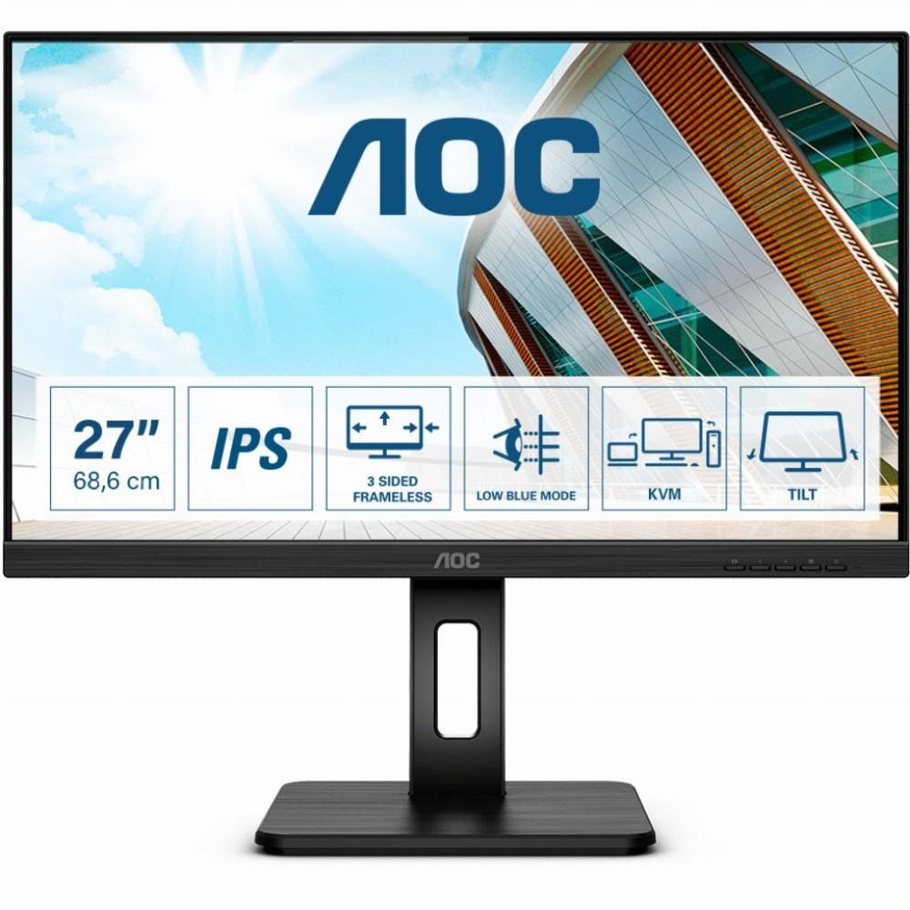 AOC P2 27P2C, 68,6 cm (27 Zoll), 1920 x 1080 Pixel, Full HD, LED, 4 ms, Schwarz