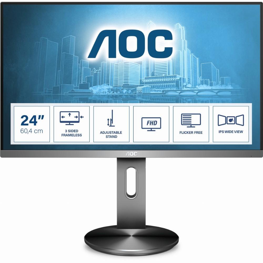 AOC 90 Series I2490PXQU/BT, 60,5 cm (23.8 Zoll), 1920 x 1080 Pixel, Full HD, LED, 4 ms, Grau