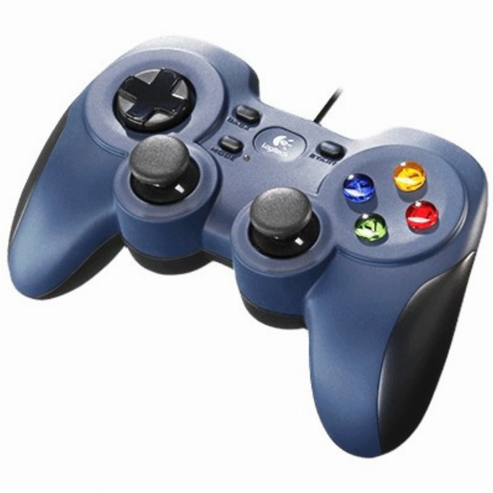 Logitech G F310, Gamepad, PC, Schaltfläche Zurück, D-Pad, Schaltfläche Start, Verkabelt, USB 2.0, Schwarz, Blau