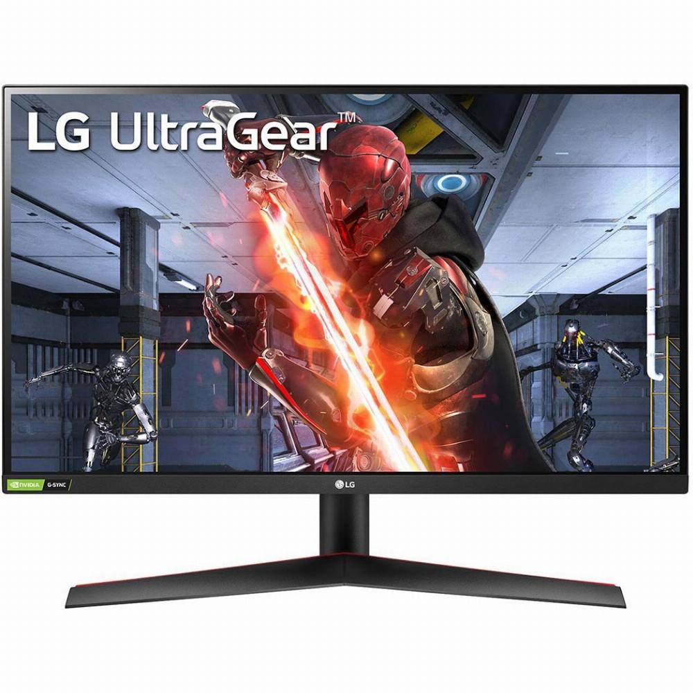 LG 27GN800-B, 68,6 cm (27 Zoll), 2560 x 1440 Pixel, Quad HD, 1 ms, Schwarz, Rot