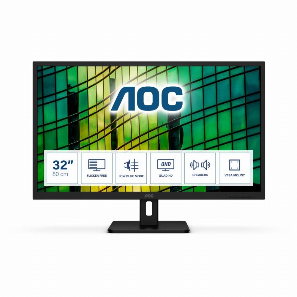 AOC E2 Q32E2N, 80 cm (31.5 Zoll), 2560 x 1440 Pixel, Quad HD, LED, 4 ms, Schwarz
