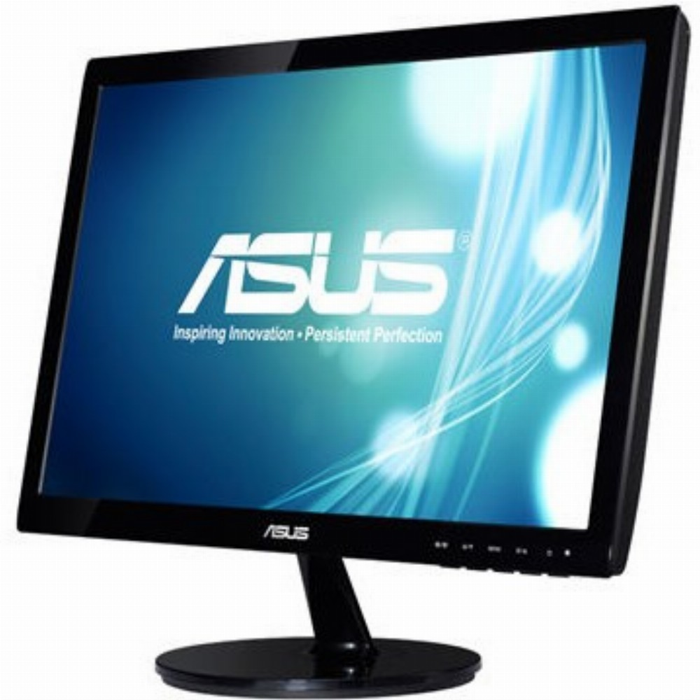 ASUS VS197DE, 47 cm (18.5 Zoll), 1366 x 768 Pixel, WXGA, LED, 5 ms, Schwarz