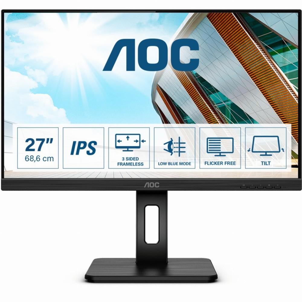 AOC P2 27P2Q, 68,6 cm (27 Zoll), 1920 x 1080 Pixel, Full HD, LED, 4 ms, Schwarz