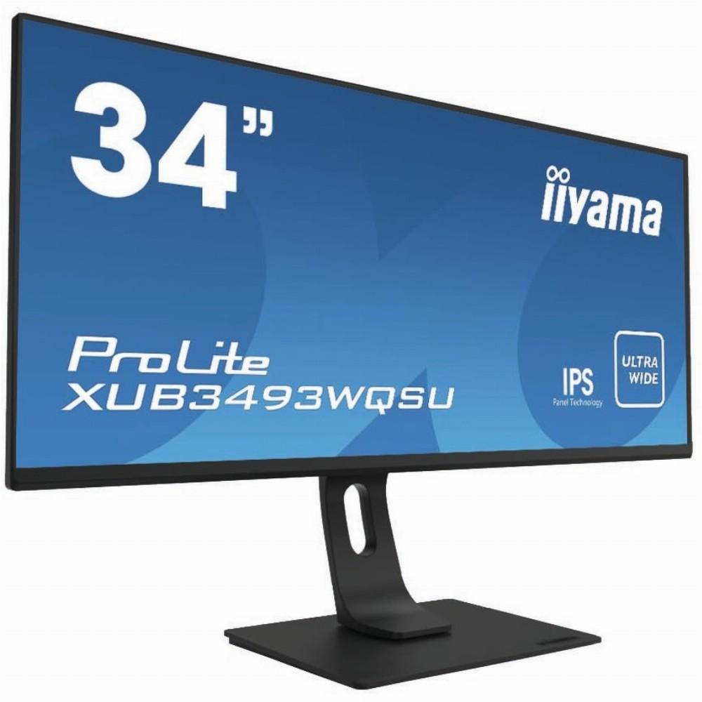 iiyama ProLite XUB3493WQSU-B1, 86,4 cm (34 Zoll), 3440 x 1440 Pixel, UltraWide Quad HD, LED, 4 ms, Schwarz