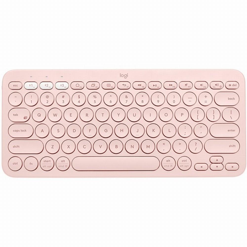 Logitech K380, Mini, Bluetooth, QWERTZ, Pink
