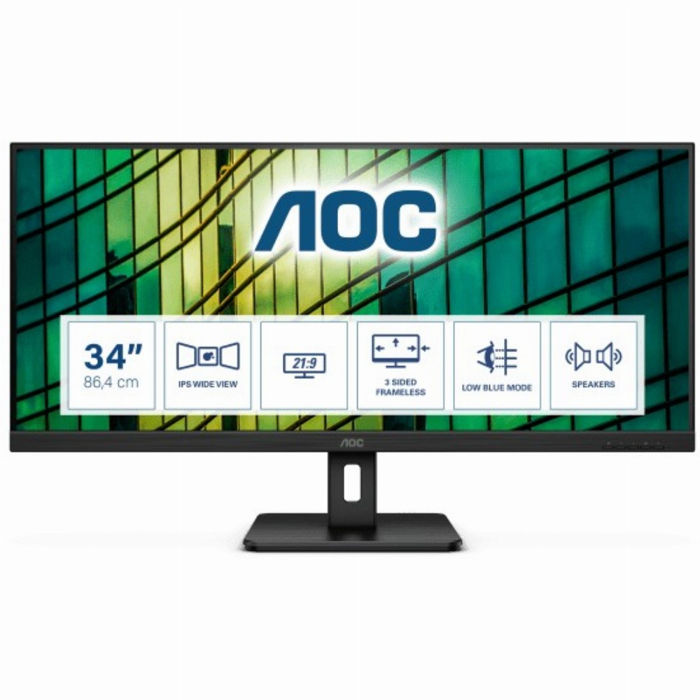 AOC E2 Q34E2A, 86,4 cm (34 Zoll), 2560 x 1080 Pixel, Full HD+, LED, 4 ms, Schwarz