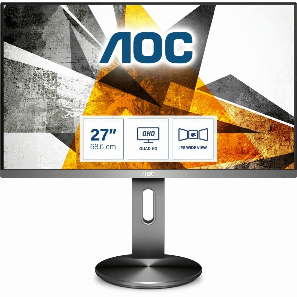 AOC 90 Series Q2790PQE, 68,6 cm (27 Zoll), 2560 x 1440 Pixel, Quad HD, LED, 5 ms, Schwarz