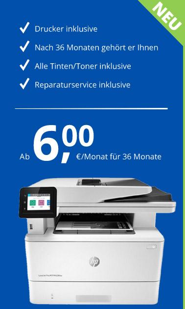 Drucker ab 6 Euro im Monat