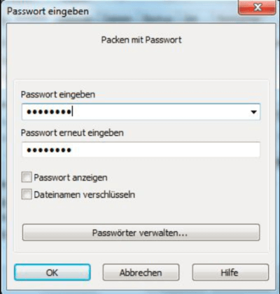 Passwort vergeben