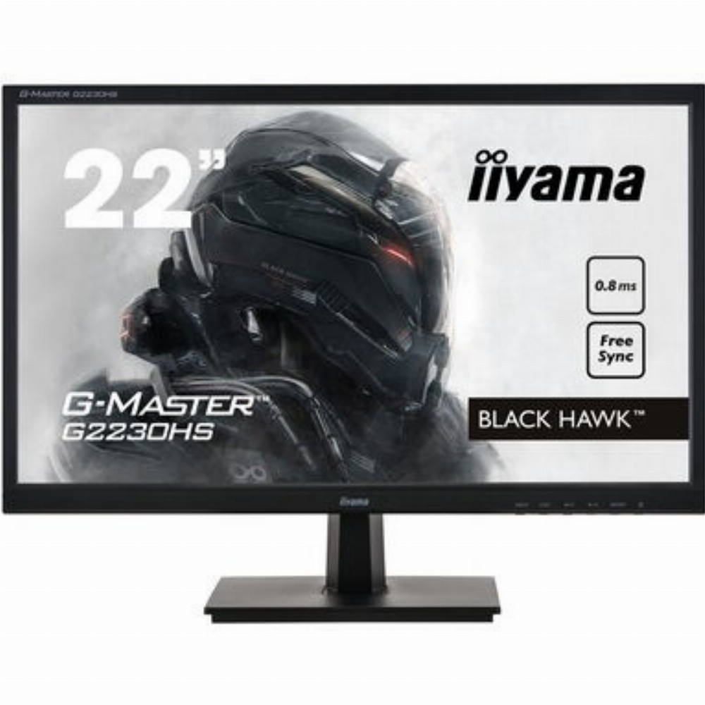 iiyama G-MASTER G2230HS-B1, 54,6 cm (21.5 Zoll), 1920 x 1080 Pixel, Full HD, LCD, 0,8 ms, Schwarz